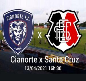 Cianorte vai jogar com o Santa Cruz pela 2ª fase da Copa do Brasil